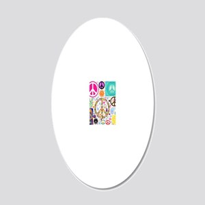 Peace  Paisley Collage FF 20x12 Oval Wall Decal