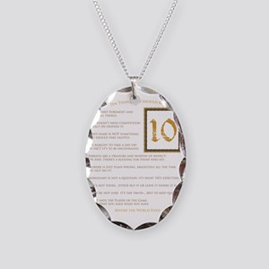 The Perfect 10 Necklace Oval Charm