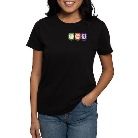 Eat Sleep Fight Fires Women's Dark T-Shirt