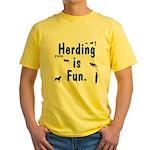 Herding is Fun JAMD Yellow T-Shirt