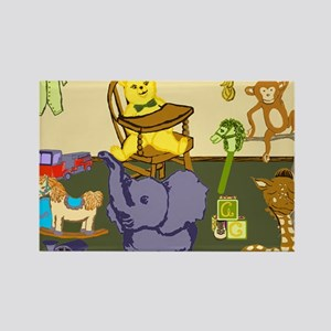 Baby Boy Room of Animals Toys Rectangle Magnet