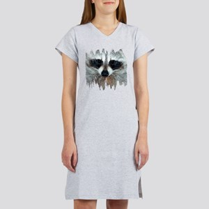 Raccoon Face Women's Nightshirt
