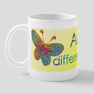 AutismDifferentNotLess(bumper) butterfl Mug