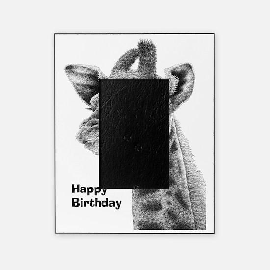 Giraffe Calf Happy Birthday Card Picture Frame