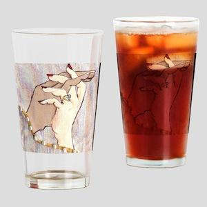 Holding Hands Under Linen Drinking Glass
