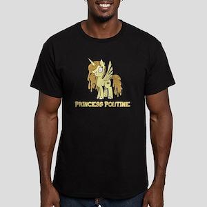 Princess Poutine Men's Fitted T-Shirt (dark)