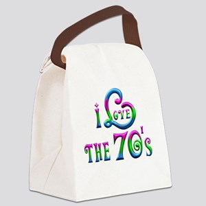 I Love the 70s Canvas Lunch Bag