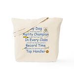 Agility Champion JAMD Tote Bag
