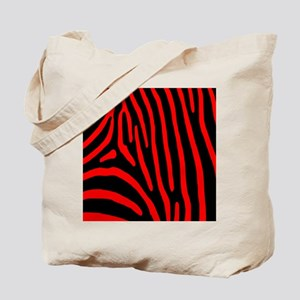 Red Zebra Stripes Tote Bag