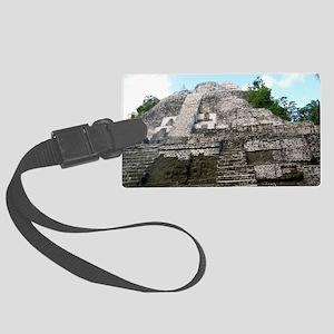 """Ancient Mayan Ruins """"Lumanai"""" in Large Luggage Tag"""