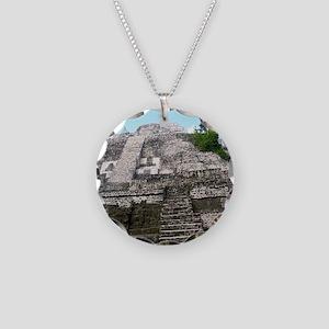 """Ancient Mayan Ruins """"Lumanai Necklace Circle Charm"""