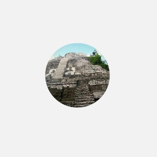 "Ancient Mayan Ruins ""Lumanai"" in Beliz Mini Button"