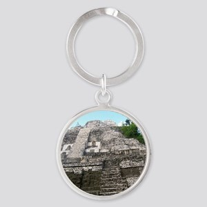 "Ancient Mayan Ruins ""Lumanai"" in Be Round Keychain"
