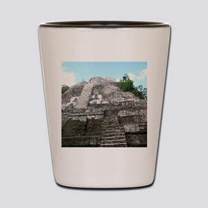 "Ancient Mayan Ruins ""Lumanai"" in Belize Shot Glass"