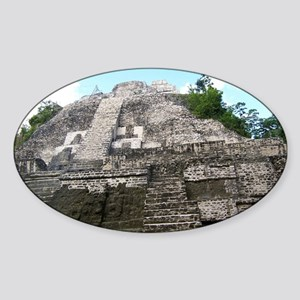 "Ancient Mayan Ruins ""Lumanai"" in Be Sticker (Oval)"