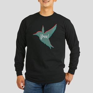 Free as a Bird Long Sleeve Dark T-Shirt
