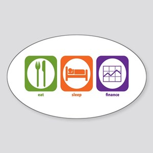 Eat Sleep Finance Oval Sticker