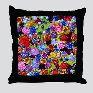 all the berries in the kitchen Throw Pillow