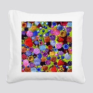 all the berries in the kitche Square Canvas Pillow
