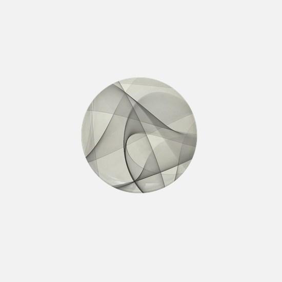 fractal silver Mini Button