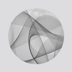 fractal silver Round Ornament