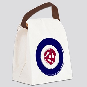 Retro Mod Target with 45 rpm adap Canvas Lunch Bag