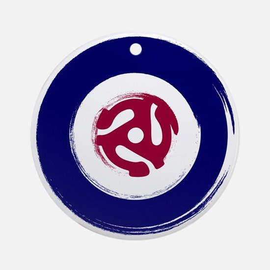Retro Mod Target with 45 rpm adapto Round Ornament