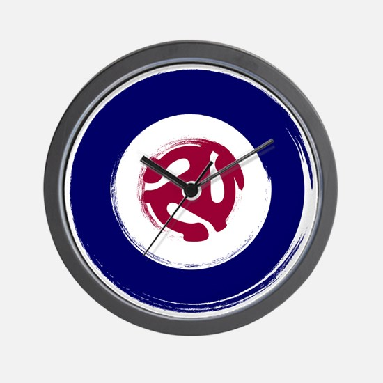 Retro Mod Target with 45 rpm adaptor Wall Clock