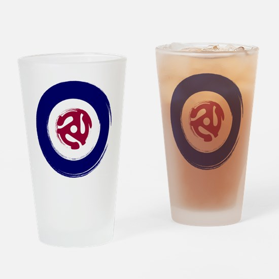Retro Mod Target with 45 rpm adapto Drinking Glass