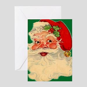 cp duvet retro santa 2 Greeting Card