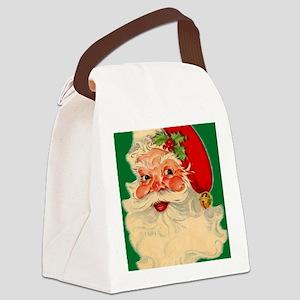 cp duvet retro santa 2 Canvas Lunch Bag