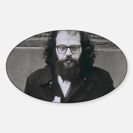 Allen Ginsberg. Sticker (Oval)