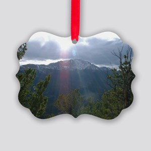 Pikes Peak Picture Ornament