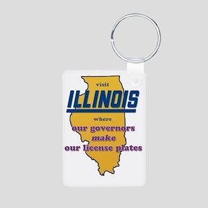 Illinois Governors make ou Aluminum Photo Keychain
