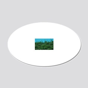 Cactus 20x12 Oval Wall Decal