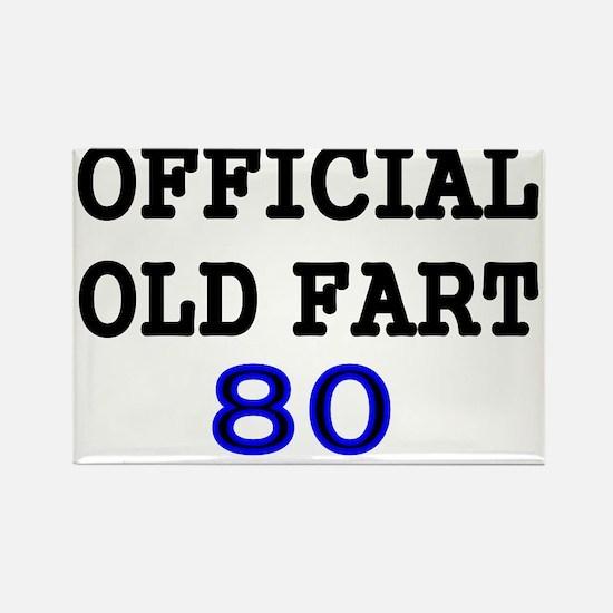OFFICIAL OLD FART 80 Rectangle Magnet