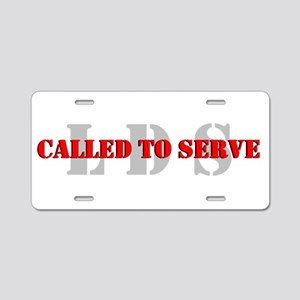 Called To Serve Aluminum License Plate