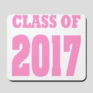 Class of 2017 (pink) Mousepad