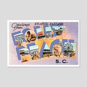 Folly Beach South Carolina Mini Poster Print
