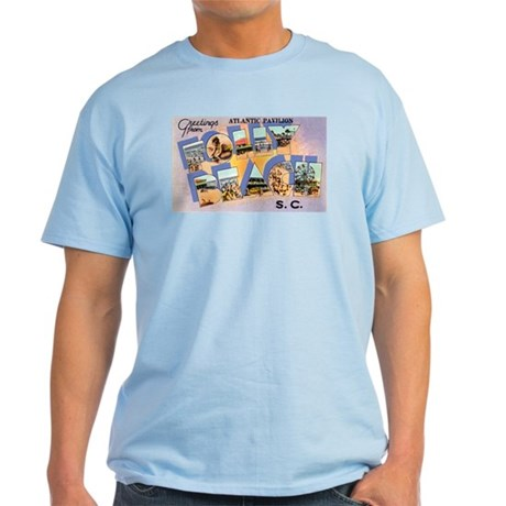 Folly Beach South Carolina Light T-Shirt