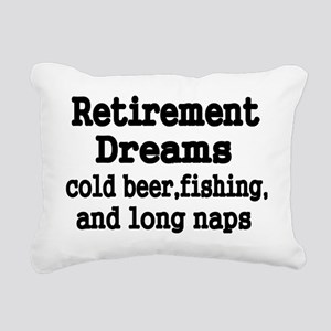Retirement Dreams Rectangular Canvas Pillow