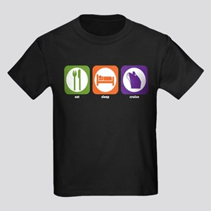 Eat Sleep Cruise Kids Dark T-Shirt