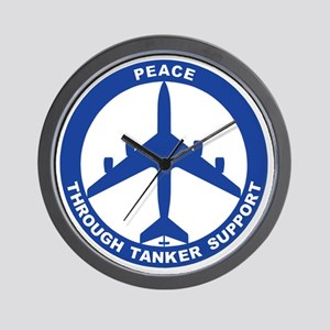 KC-135R - Peace Through Tanker Support Wall Clock