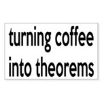 Mathematician: Coffee Into Theorems Sticker (Recta