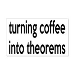 Mathematician: Coffee Into Theorems 20x12 Wall Dec