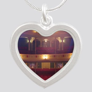 View from the Stage Silver Heart Necklace