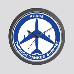 KC-135E - Peace Through Tanker Support Wall Clock