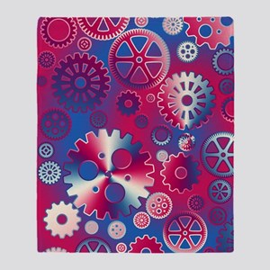Metallic gears Throw Blanket