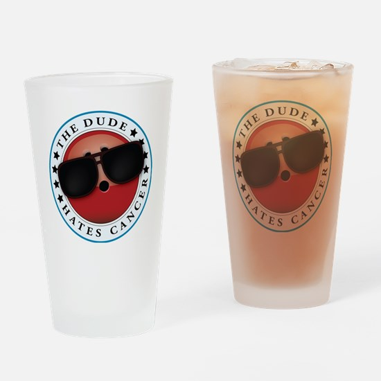 TDHC logo Drinking Glass