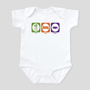 Eat Sleep Fabric Infant Bodysuit
